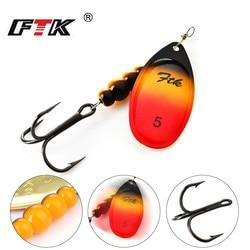 FTK новая 1 #-5 # аналогичная как медная блесна приманка рыболовная приманка с тройными крючками твердые приманки Колеблющаяся блесна
