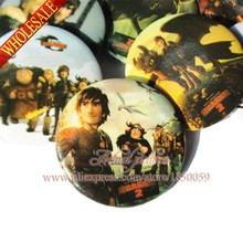 9pcs How to Train Your Dragon Cartoon Badges Pinbacks Badges Buttons pins badges Round Brooch Badge,Clothes/Bags Accessories