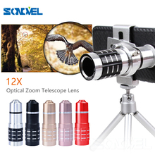 Buy NEW Universal 12X Zoom Optical Telephoto Telescope Mobile Camera Lens Universal Clip iphone 5s 6 7 Samsung Huawei for $20.69 in AliExpress store