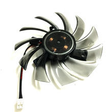 EVERFLOW 75mm 2Pin 2lines 0.2A T128010SM computer radiator Graphics Card Cooler fan For Gigabyte Radeon R9 270X 280X VGA cooling