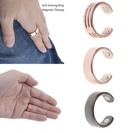 Magnetic Snore Stopper Adjustable Anti Snore Ring Therapy Acupressure Treatment Against Snoring Device Finger Ring Sleeping Aid