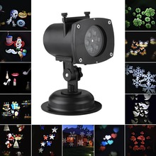 3-5days arrive your home Christmas outdoor light decoration LED Projector Lamp move patterns snowflake party nightclub lighting(China)