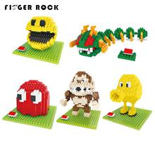 Pixels Move Mini Blocks Assemble Pacman Centipede Building Brick Model Classical Toys Gift for Collection(China)