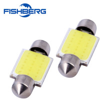 FISHBERG 2pcs 36mm 12V COB Festoon LED Car Bulb Auto Led Interior Light Lamps 6000K Parking Dome Map Trunk RV SUV Light
