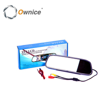 Ownice Car Rear View Mirror Monitor Backup Reverse Camera 4.3 Inch TFT LCD Parking Assistance Rearview Auto Car Styling(China)