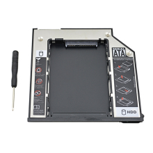 "Aluminum Box for HDD Caddy 9.5 mm SATA 3.0 2.5"" SSD Enclosure For Dell E6310 E6400 E6500 E6410 E5400 M2400 M4500 Pro Optibay(China)"