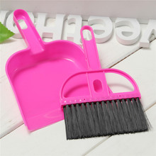 Soft Plastic Desk Hand Sweeper Set Mini Dustpan And Brush Keyboard Closet Brooms Brushes Durable Office Desktop Cleaning Tools(China)