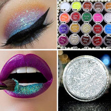 24 Colors Single Pressed Lip Eye Glitter Shimmer Powder Eyeshadow Eye Shadow Palette Eyes Makeup Cosmetic Beauty New(China)