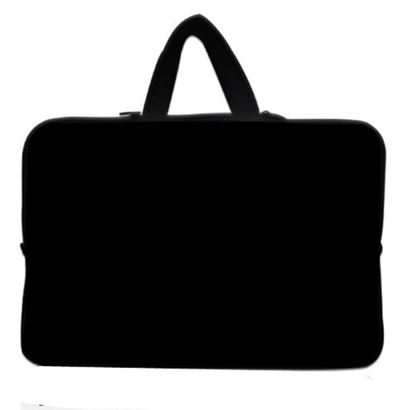 Plain Black 15 15.4 15.5 15.6 Laptop Neoprene Soft Sleeve Bag Case Cover+ Hide Handle For Acer Dell HP Sony ASUS<br><br>Aliexpress
