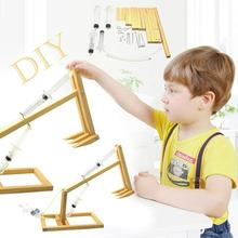DIY Piston Self Made Excavator Wooden Puzzle Montessori Educational Toys For Children Kids Science Experiment Assembly Model Toy
