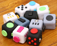 2017HandSpinnerFidgetCube With Button Anti IrritabilityToy Stress Relief for Adults and Children 12 Fidget Vinyl Desk Toy 9 Type