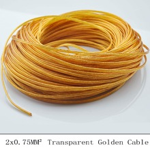 5M 2 Core 0.75mm Lamp Switch Wire Transparent Cable Electrical Wire Pendant Light Lamp Line Vintage Lamp Cord(China)