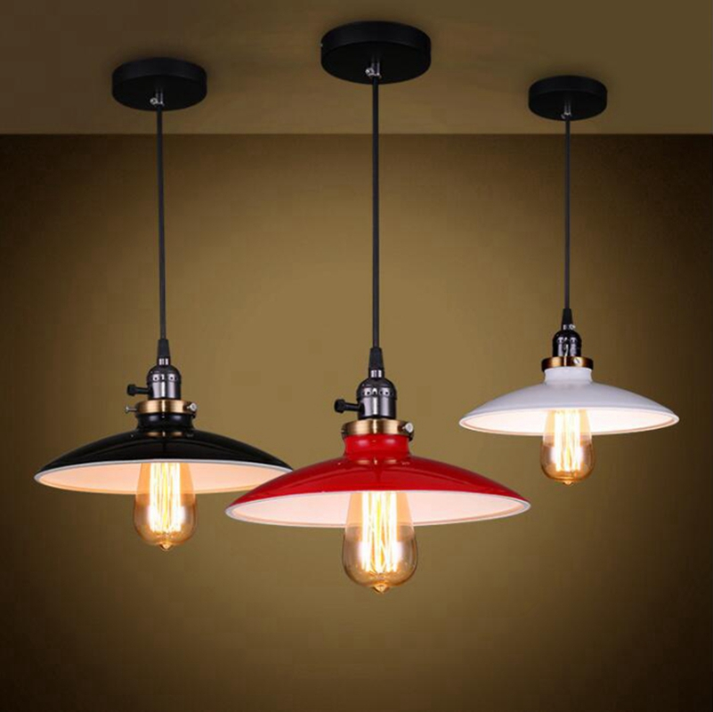 LuKLoy Pendant Lights Lamp, Vintage Retro Industrial Retro Kitchen Pendant Lamp Shade Light for Dining Room Kitchen Island Decor<br>
