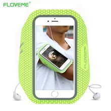FLOVEME Phone Sport Arm band For iPhone 7 Plus 6 6s Plus Arm Bands Mobile Phone Bag Pouch Case Cover Running Jogging Soft Bags