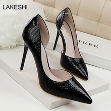LAKESHI Women Pumps Sexy High Heels Womens Shoes Fashion Bridal Designer Shoes Ladies Summer Pumps