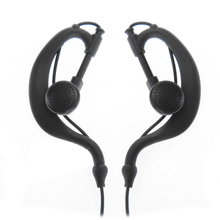 2016 Hot Selling Black Nylon Low Noise Security Headset Earpiece Earphone for Motorola Walkie Talkie Radio 2 Pin