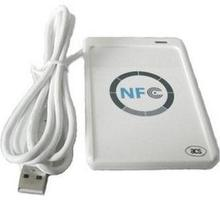 USB ACR 122U NFC contactless smart ic Card reader and writer support all 4 types + 5pcs 13.56MHz nfc 1k s50 Cards +1 SDK CD(China)