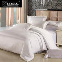 LILYSILK 4pcs Silk Bedding Set 100% Mulberry Seamless Silk Duvet Cover Silk Fitted Sheet Silk Oxford Pillowcases 19 Momme (China)