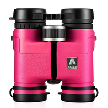 Asika 8x32 Compact Binoculars for Bird Watching Lightweight Magnesium Alloy Body Pocket Size For Travel High Clear Vision Pink(China)