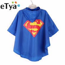 Cartoon Super Hero Kids Rain Coat Children Poncho Single-person Rainwear/Raincoat/Rainsuit Boys Girls Poncho 6 Color Available(China)
