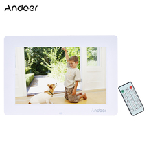 "Andoer 13"" HD LED Digital Photo Frame 1366*768 Multi-Language Support Clock Calendar MP3 MP4 Movie Player With Remote Control"