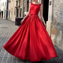 Long Party Dresses Vintage Red Black Maxi Dress Wedding Evening 2017 Bandage Prom Women Ball Gown Elegant Women