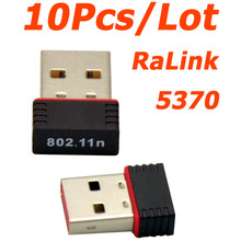 WHOLESALE 10Pcs/Lot Mini Ralink 5370 150Mbps Wireless WiFi USB Adapter LAN Network Card Adapter for SKYBOX / Openbox /STB(China)