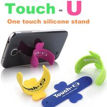 10pcs/lot lovely mini Universal mobile Phone Holder Portable one touch silicone stand Touch-U for iPhone 6/6s galaxy ipad Tablet