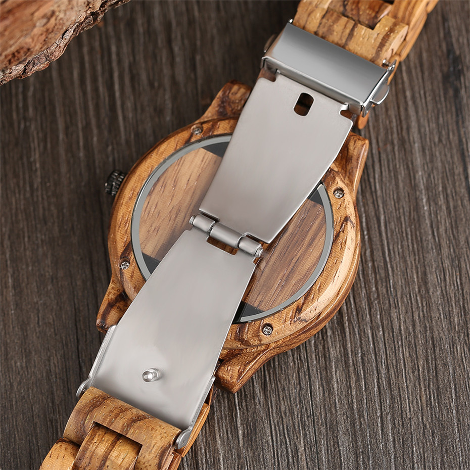 Different color Creative Fashion Casual Sport Simple analog Hollow Bamboo Wooden Men Unique Handmade Wood Quartz Wristwatch+Gift Bags (27)