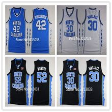 #30 Rasheed Wallace #52 James Worthy #42 Jerry Stackhouse North Carolina Tar Heels College Basketball Jersey All Size