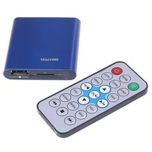 JEDX Mini Multi TV Media Player HDMI 1080P USB SD MMC RMVB MP3 AVI MPEG Divx MKV 32GB U disk Drive+Car adapter included