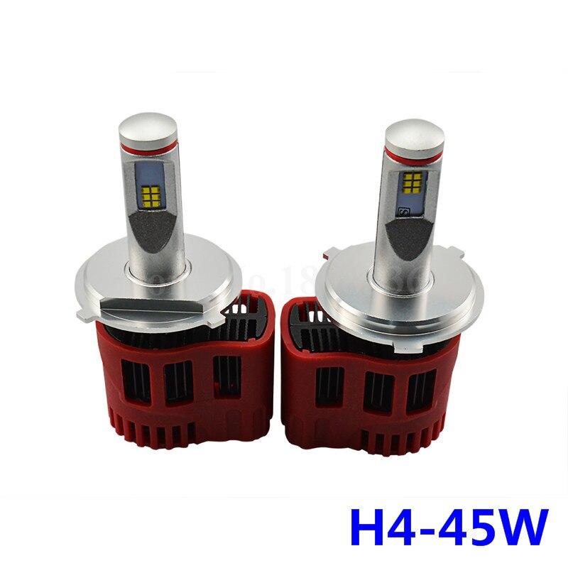 2pcs H4 LED headlights 45W 4500LM Hi/Lo Beam bulb P6 LED CANBUS Kit 3000K 4000K 5000K 6000K WITH Lexeon ZES CHIP<br>
