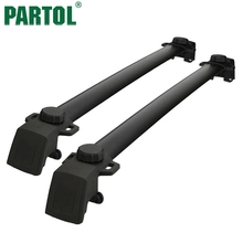 Partol Black Car Roof Rack Cross Bars Roof Luggage Carrier Roof Rail For JEEP compass with vertical side bars 2011 2012 2016(China)