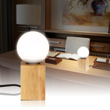 Night light lamp Creative 3 Color Temperatures Adjustable Table Light Oak Wooden Base with E27 LED Bulb Switch Desk Lamp Modern