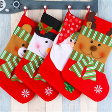 1Pcs 38cmX19cm/58g Cloth Creative Christmas stocking Christmas tree ornaments Children's little gift Celebrate Christmas
