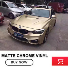 High quality 20m Champagne gold vinyl car wrap for bmw e4 air release make small profits But quick turnove real picture(China)