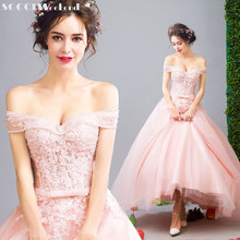 SOCCI Weekend 2017 Elegant Pink Long Evening Dresses Strapless Formal Wedding Party Dress Sexy Prom Gowns vestidos de festa