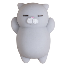 Dropshipping NEW Squeeze Squishy Grey Cat Fat Animal Mini Slow Rising Simulation Stress Stretch kawaii Kids Toys