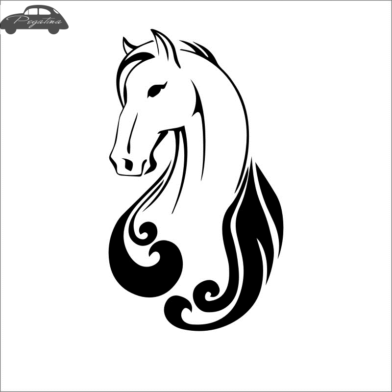 Horse Riding Decal  Posters Vinyl Wall Decals Pegatina Quadro Parede Decor Mural Wild Animal Sticker 719