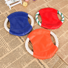 1 Piece 2017 New Cute Colorful Outdoor Toys For Kids Play With Pet Birthday Gifts With Cotton Rope Like Frisbee