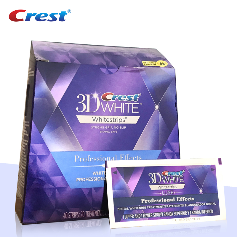 Crest 3D White Luxe Professional Effects Whitestrips Teeth Whitening Kit Remove 14 Years of Stain Enamel-safe Ingredient