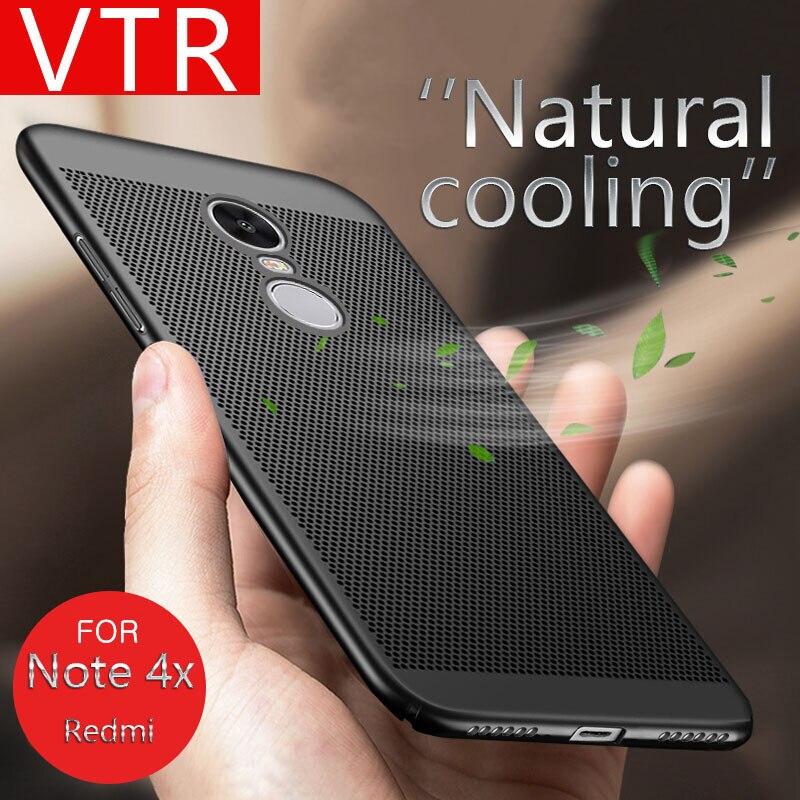 Vtr охлаждения защита телефона Чехлы для Xiaomi Redmi 4x и Примечание 4x покрова тепловыделение противоударный ПК матовая задняя телефон бампер Сум...(China)