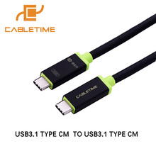 Cabletime Type C Cable Usb Cable Type C to Type C 3.1 Fast Charge Usb C Cable Nylon Braided For MacBook laptop pad PC N023(China)