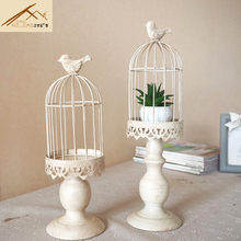 New design candle holder factory sales europe birdcage lantern Continental Iron Candle Holders wedding home candlestick freeship(China)