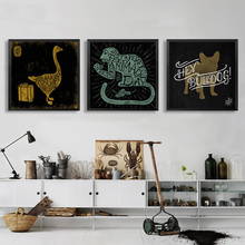 Abstract Animals Gooses Monkeys Cats Painting Wall Picture Nordic Art Canvas Minimalist Typography Decor for Study Children Room