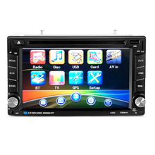 6.2 inch 2DIN Universal Car Bluetooth Touchscreen CD DVD Player Stereo MP3 AUX FM Radio USB SD Multimedia Player Host