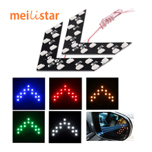 Car styling 2pcs Amber Arrow Panel 14SMD LED Car W5W For Car Side Mirror Turn Signal Indicator Light/Car led/Parking