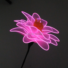 Hot Sales Bright EL Wire Halloween Glowing Lotus Fashionable Led String Carnival Holiday Lights Floral April Fools Day Supplies(China)