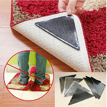 4pcs/set  Rug Carpet Mat Grippers Pliers Ruggies Carpet Non Slip Grip Pad Corners Anti Skid Washable Reusable Silicone Grip Mat