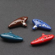 2017 Legend of Zelda Ocarina Necklace 12 Hole New Ocarina Ceramic Alto C Legend of Zelda Ocarina Flute Blue Enamel Necklace(China)
